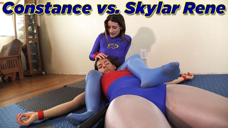 Constance vs. Skylar - Foot & Fondle Fight!