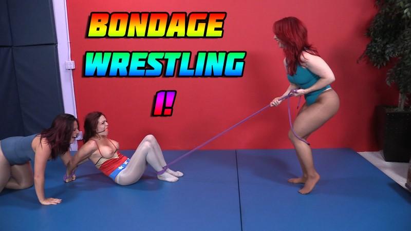 Girls in bondage wrestling