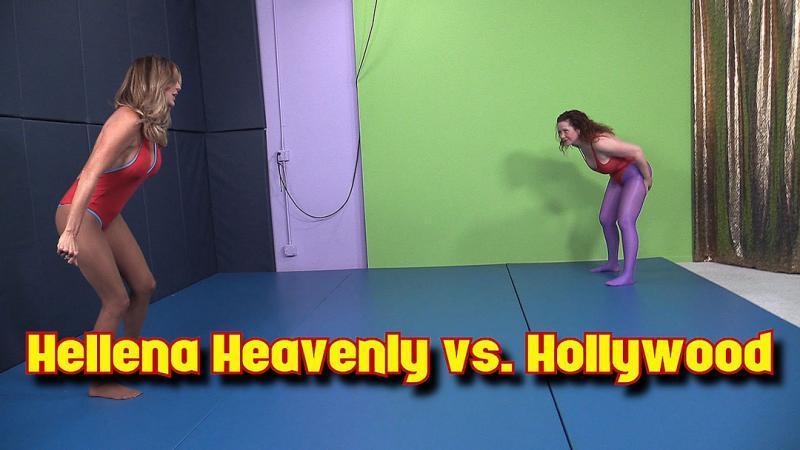 Hollywood vs. Hellena Heavenly Leotard & Tights Knockout Wrestling!